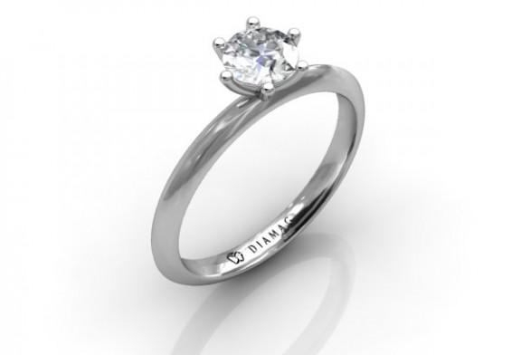 Inel de logodna din aur alb in oferta Diamad – Pentru momente speciale
