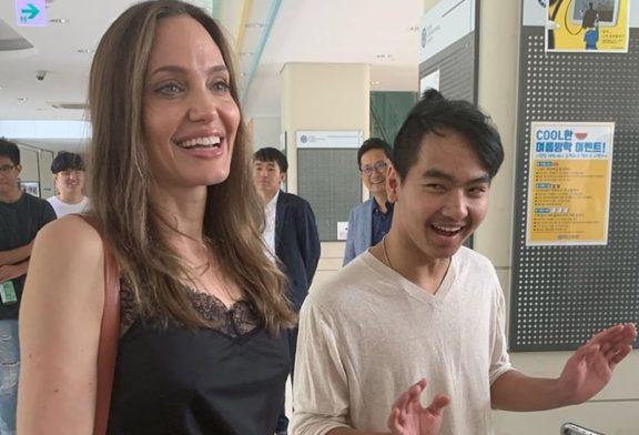 Angelina Jolie și-a petrecut fiul la studii, însoțindu-l tocmai în Coreea de Sud
